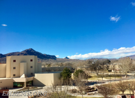 """M mountain"" as seen from the campus of New Mexico Tech"