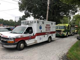 Ambulance 89-A staging at Wagonseller Park with the 48 units