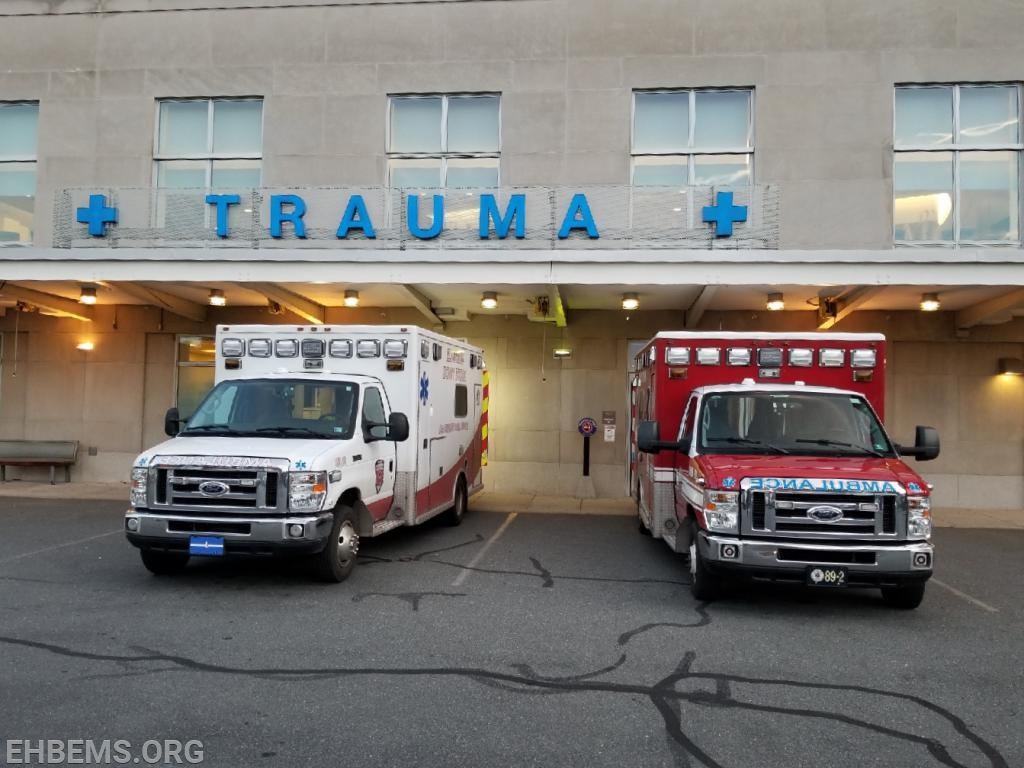 Ambulance 189-1 and Ambulance 89-1 at Reading Hospital.