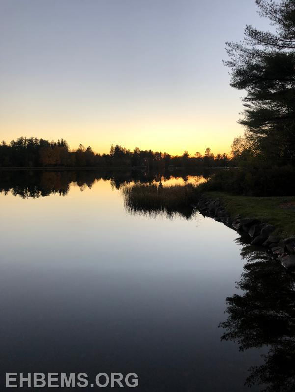 The view from Cathie's home on Lake Naomi in the Poconos.