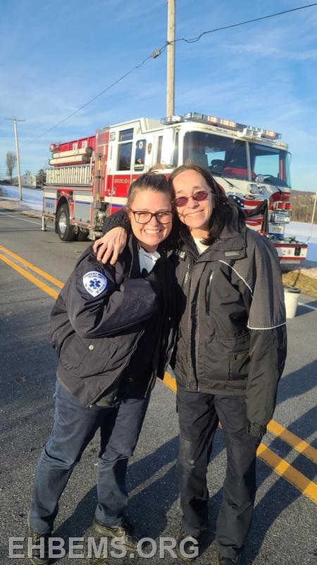 Cathie and EMT L. Plank